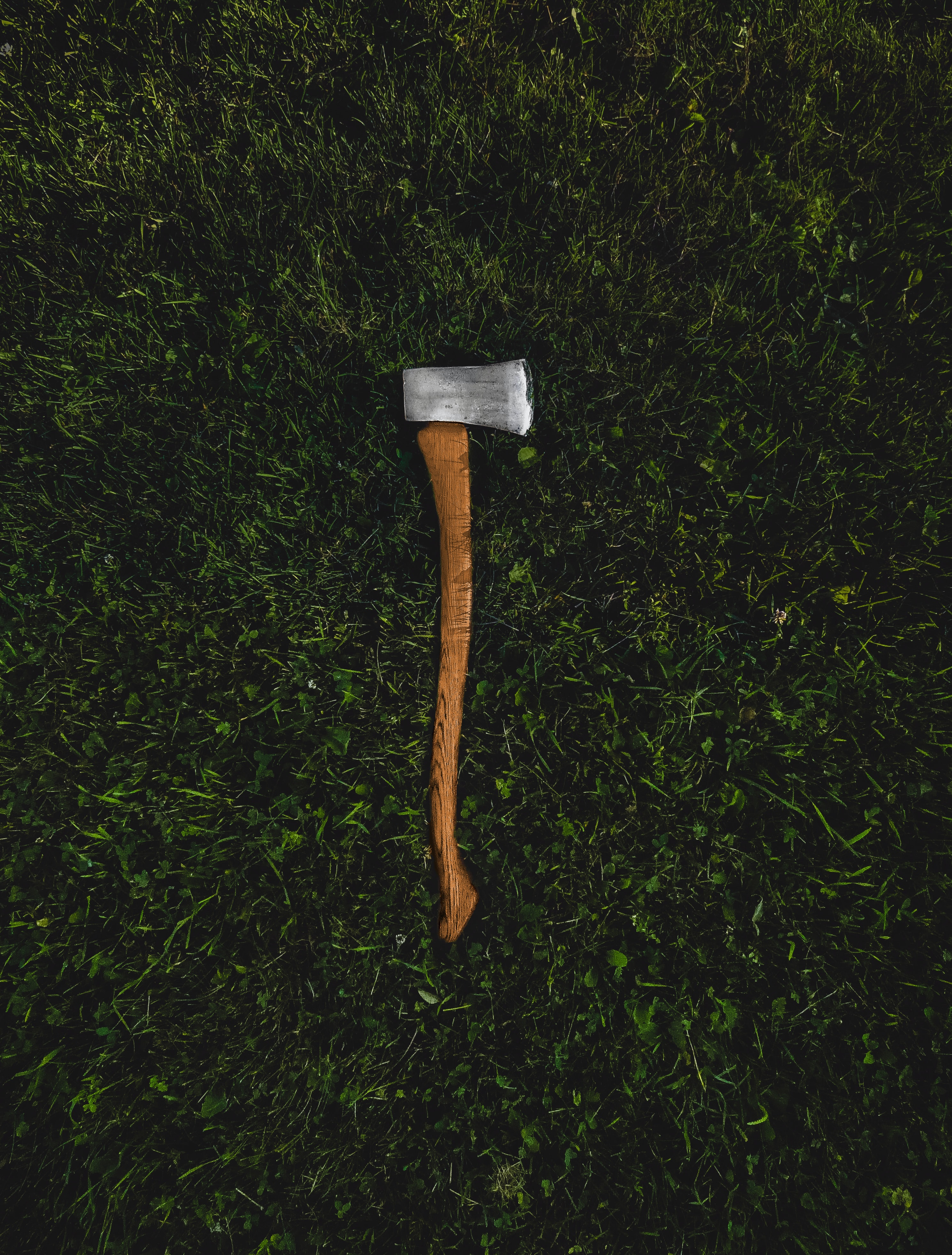 brown and silver pickaxe