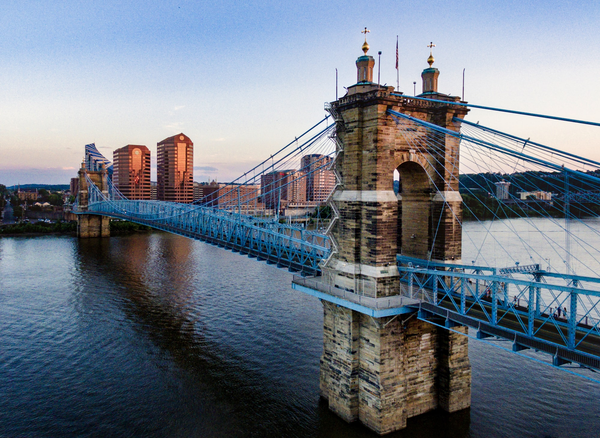 June 30th 2017, I turned 24 and buzzed around and captured this popular Cincinnati bridge.