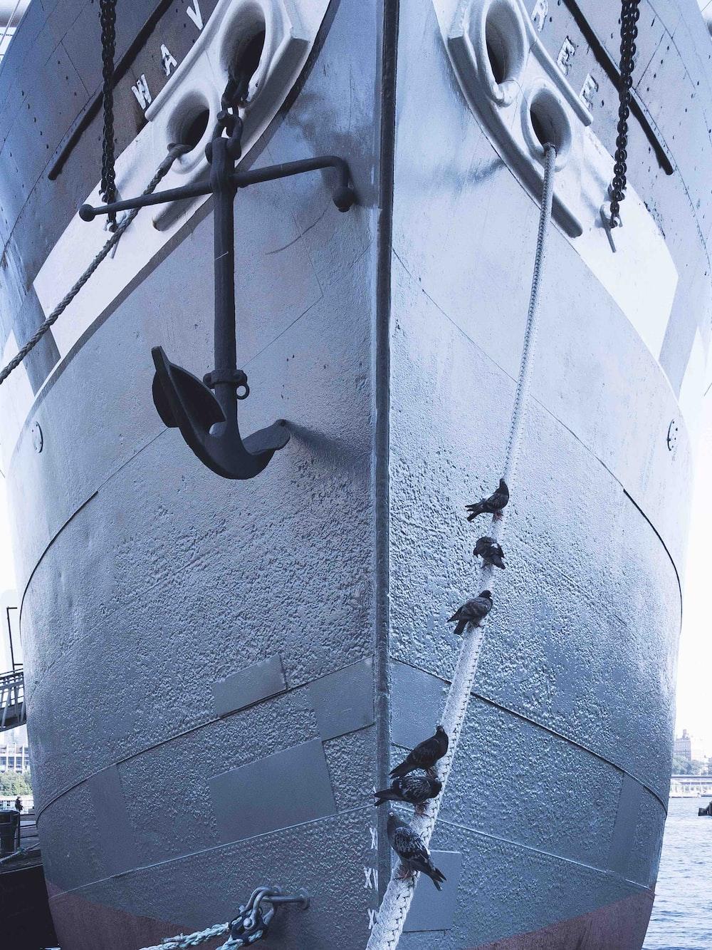 low angle photo of ship