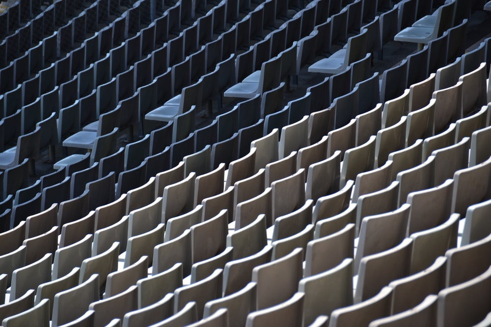 white chair lot in stadium