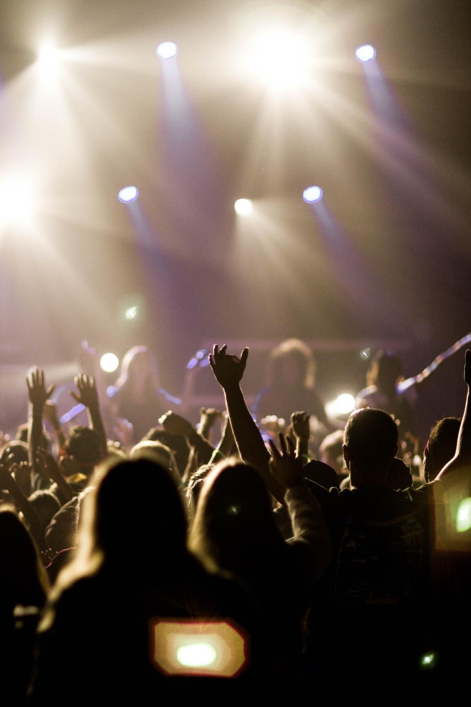 people watching concert