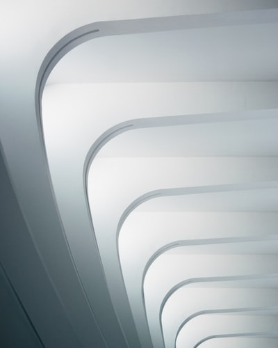 This photo is taken at the Milwaukee Art Museum, designed by Santiago Calatrava. The all white architecture and natural light make for amazing patterns.