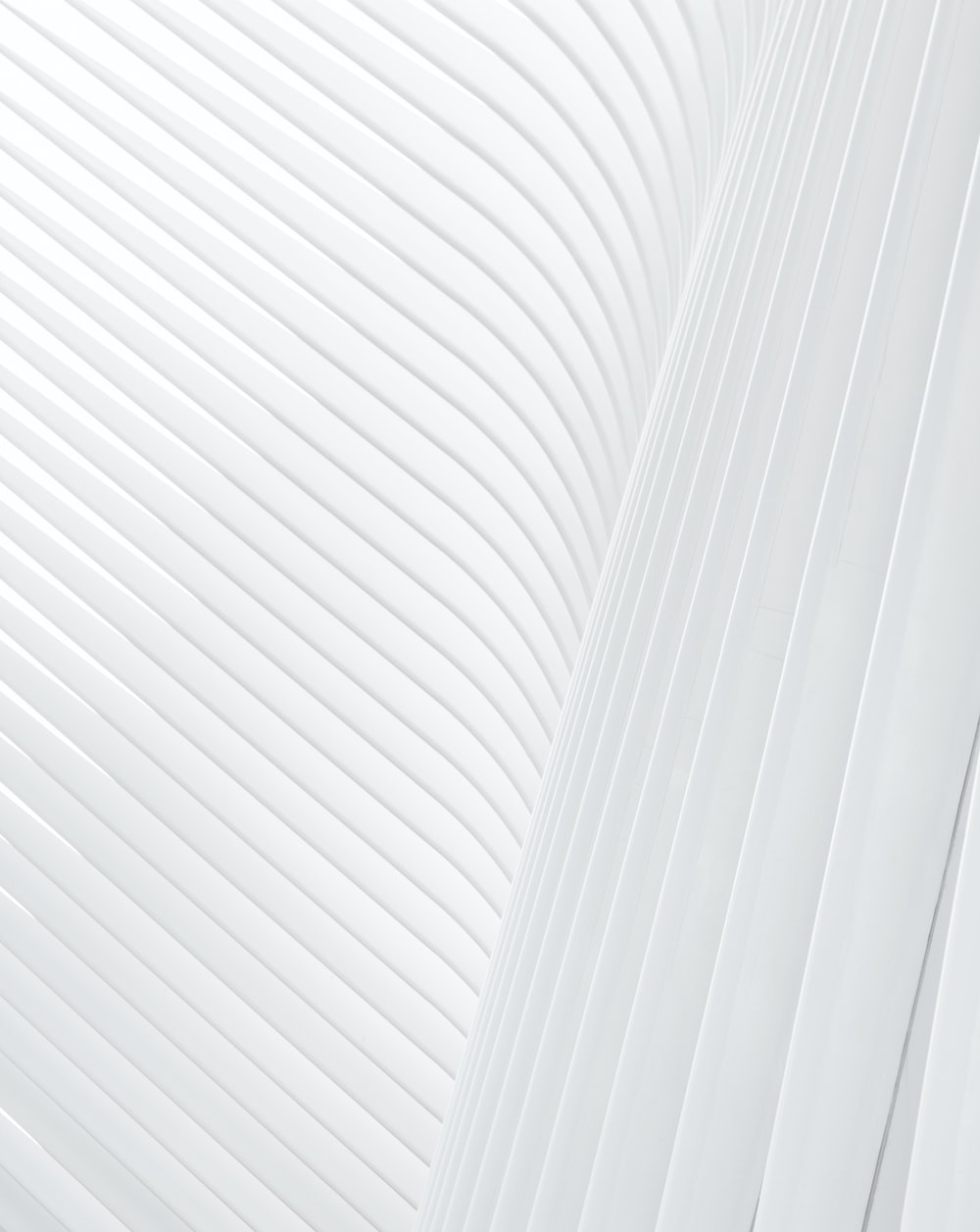A white stripe pattern made up of concrete facade ribs