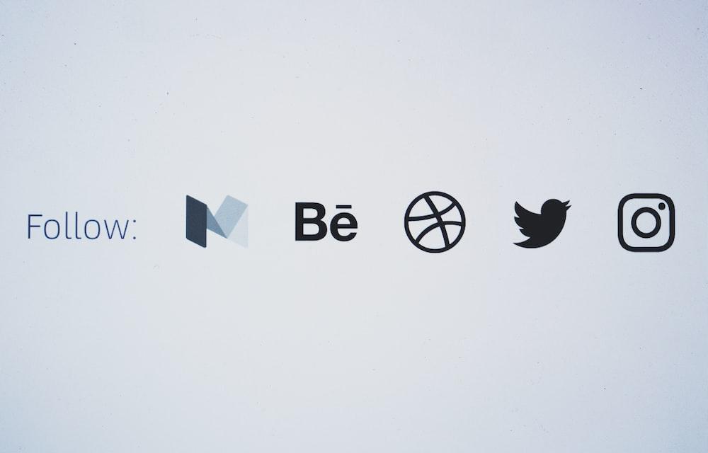 Text Of Social Media Display Platforms And Their Logos