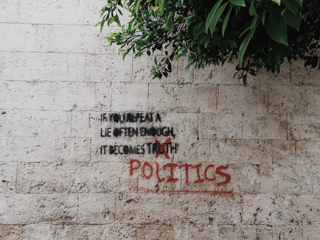Political commentary on the streets of Gemmayze, East Beirut, Lebanon.