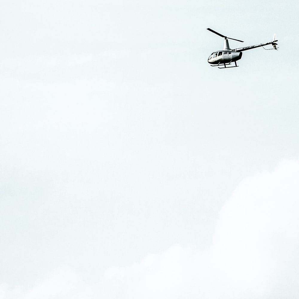 flying helicopter on air
