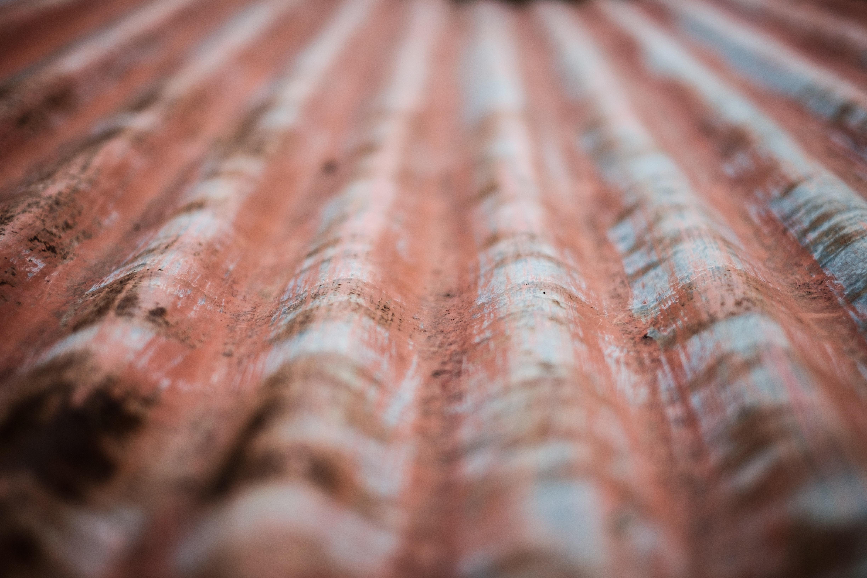red and gray galvanized iron sheet
