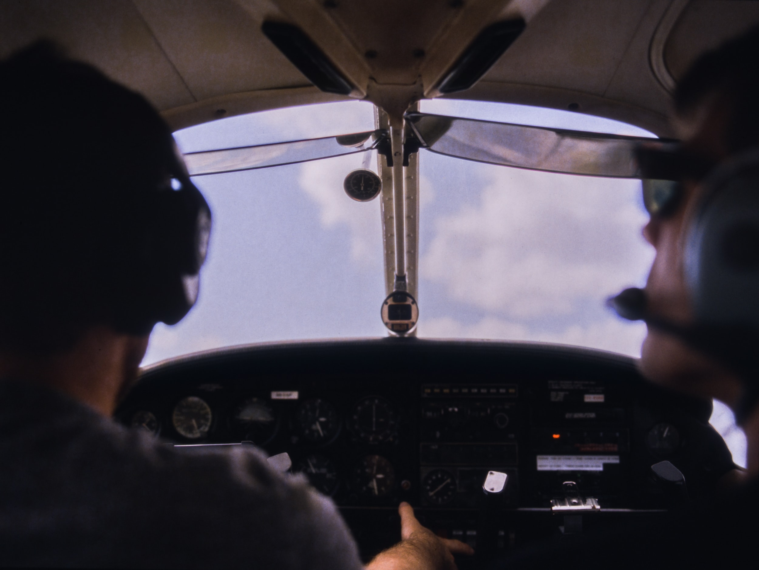 person piloting airplane