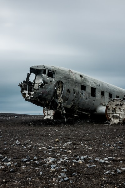 This one is a classic. In 1973 a United States Navy DC-3 plane ran out of fuel and crashed on the black beach at Sólheimasandur, in the South coast of Iceland. The remains are still there, very close to the sea.