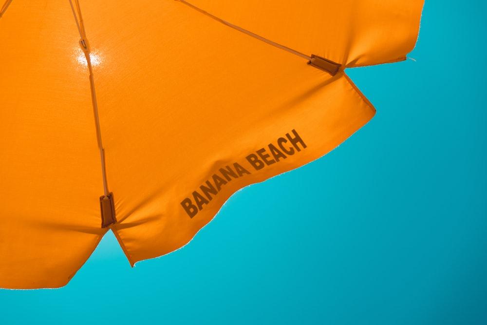 orange banana beach-printed umbrella