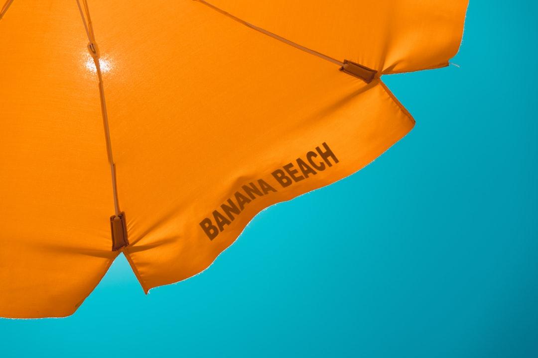 Banana beach parasol