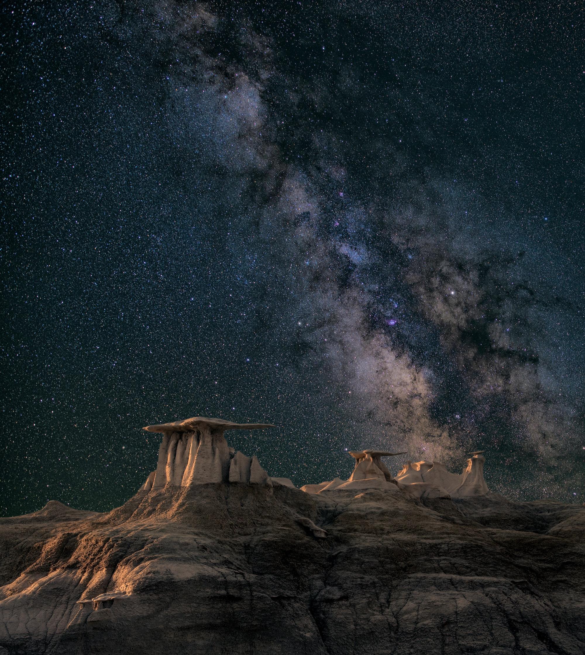 Звездное небо получится сфотографировать только с длительной выдержкой
