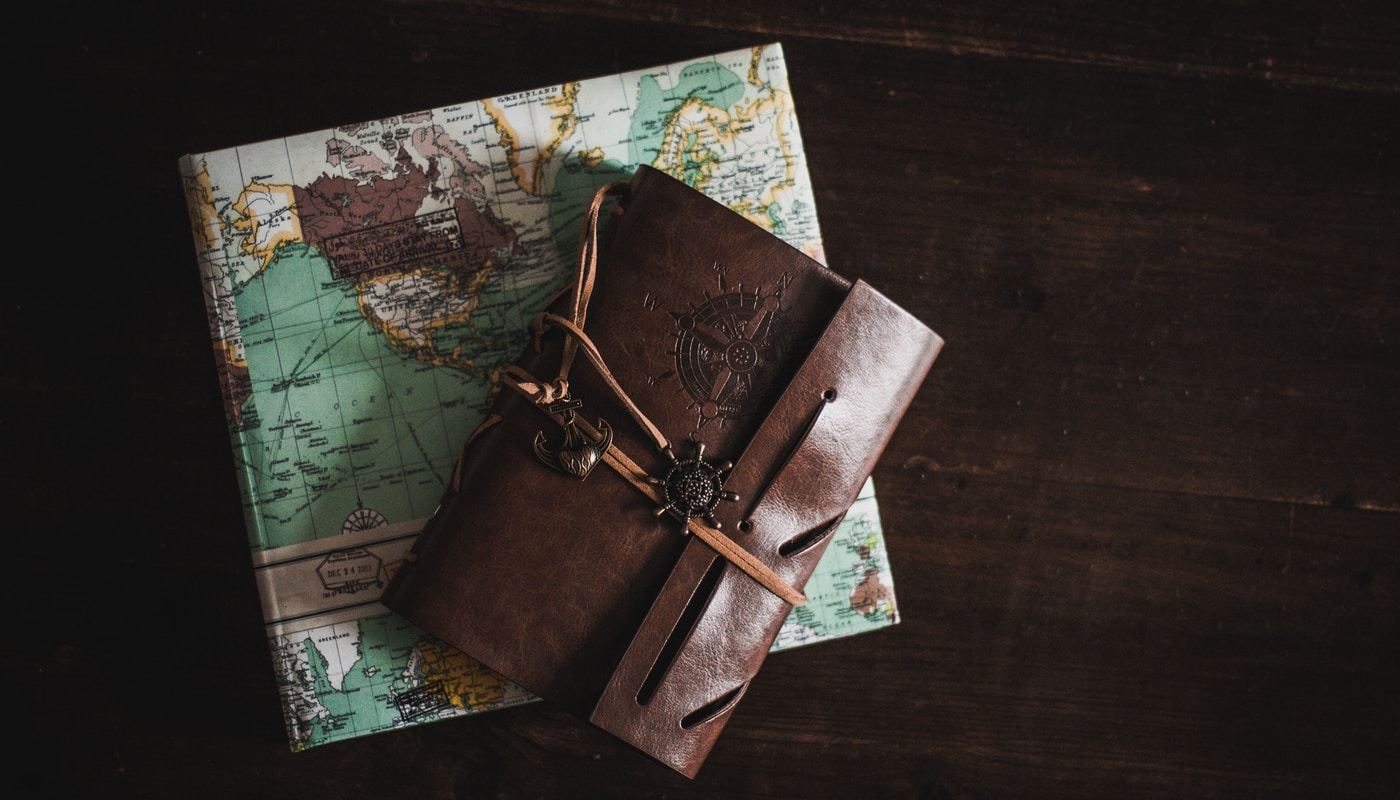 wallet on top of map