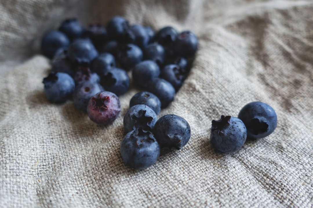 Freshly picked homegrown blueberries. Grown organically without pesticides.