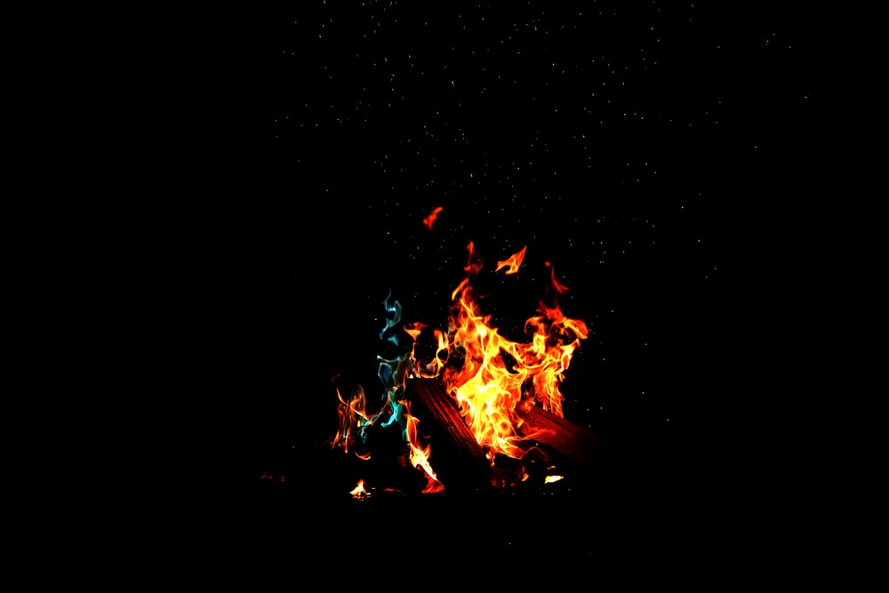 Low Light Photography Of Fire