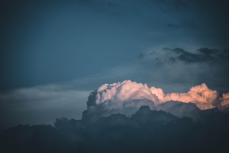 bird's eye view photo of cumulus clouds