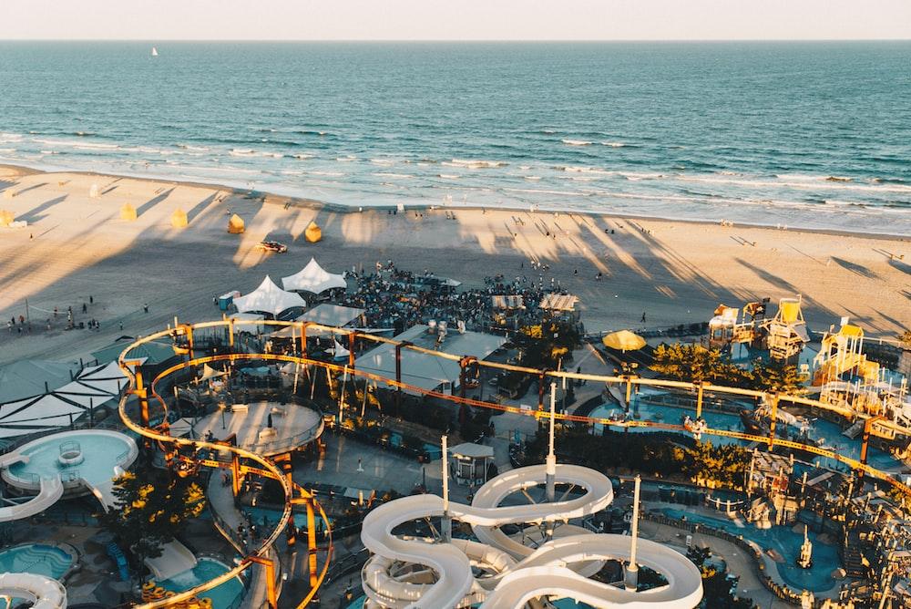 aerial photography of landmark beach