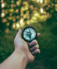 """""""Vintage compass in hand"""""""