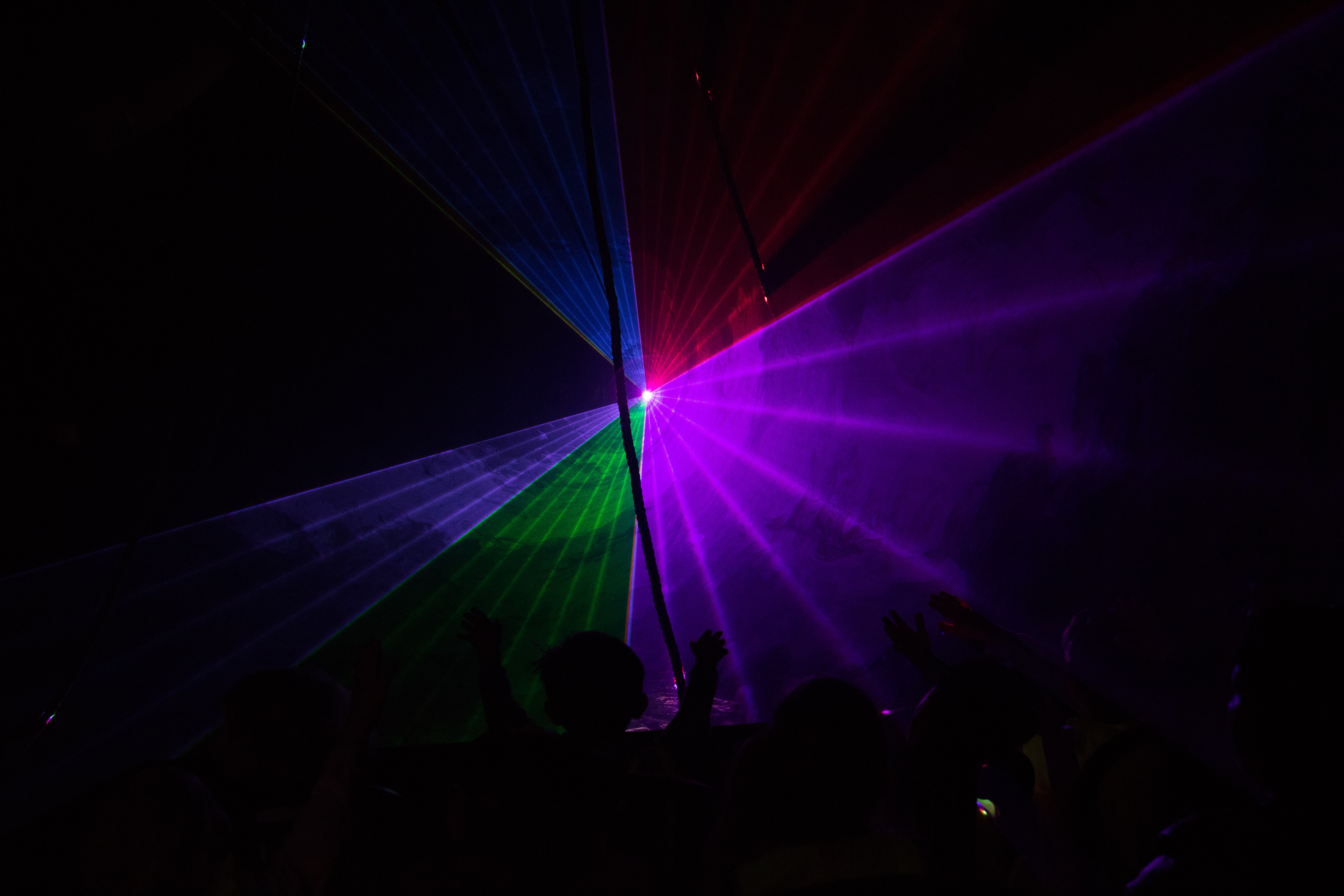 photo of multicolored stage light