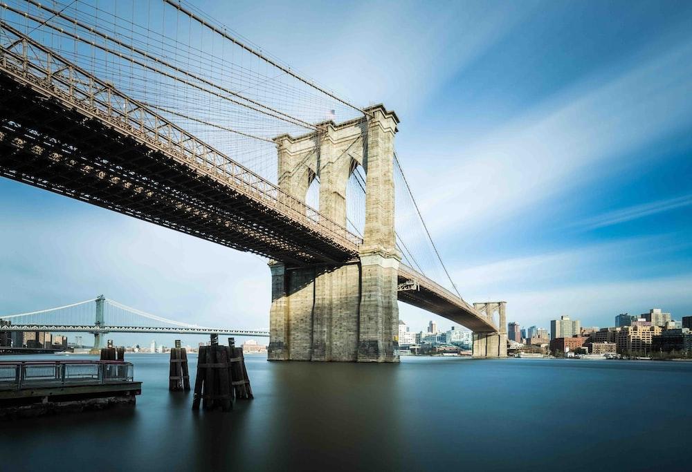 architectural photo of brown concrete bridge