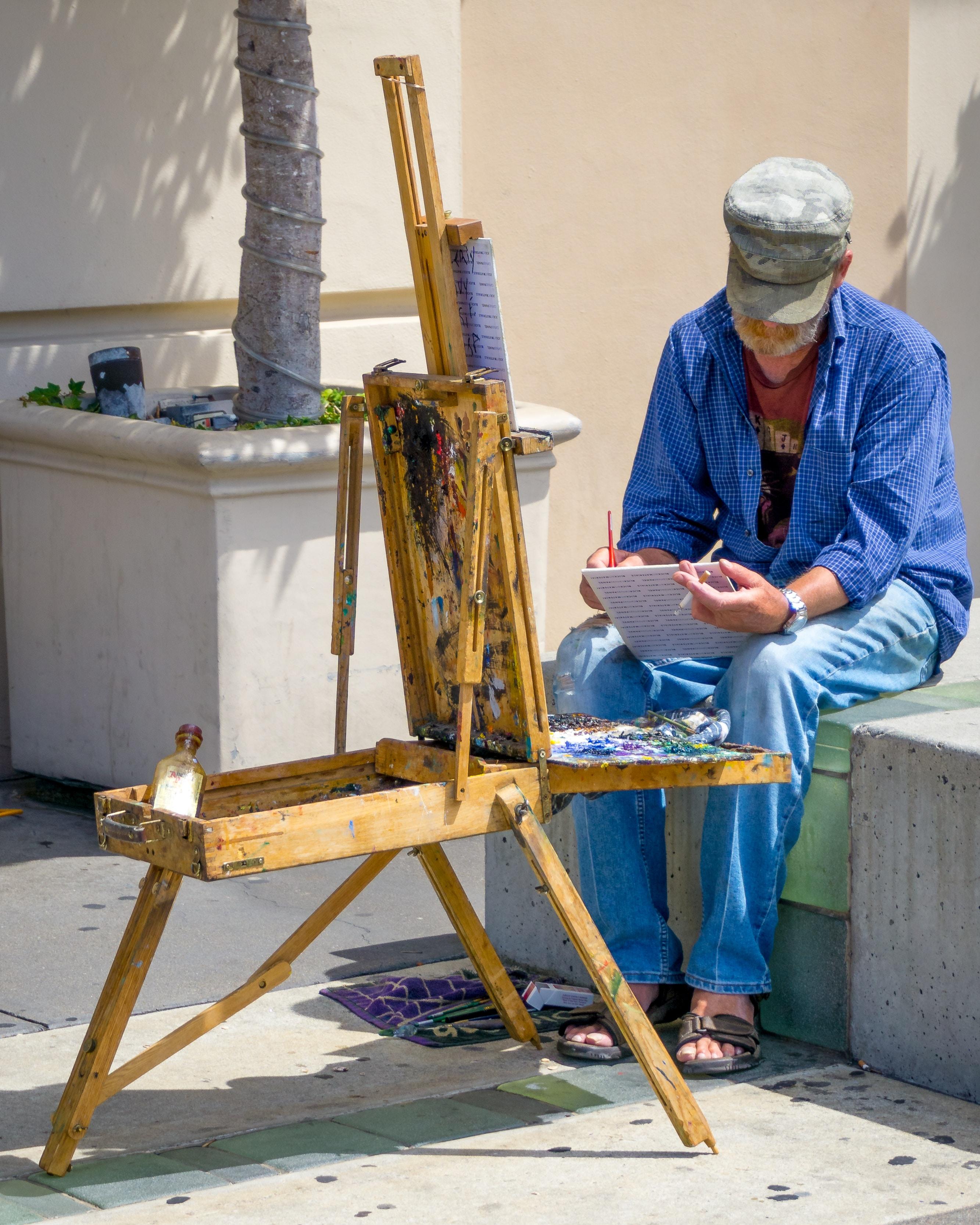man painting