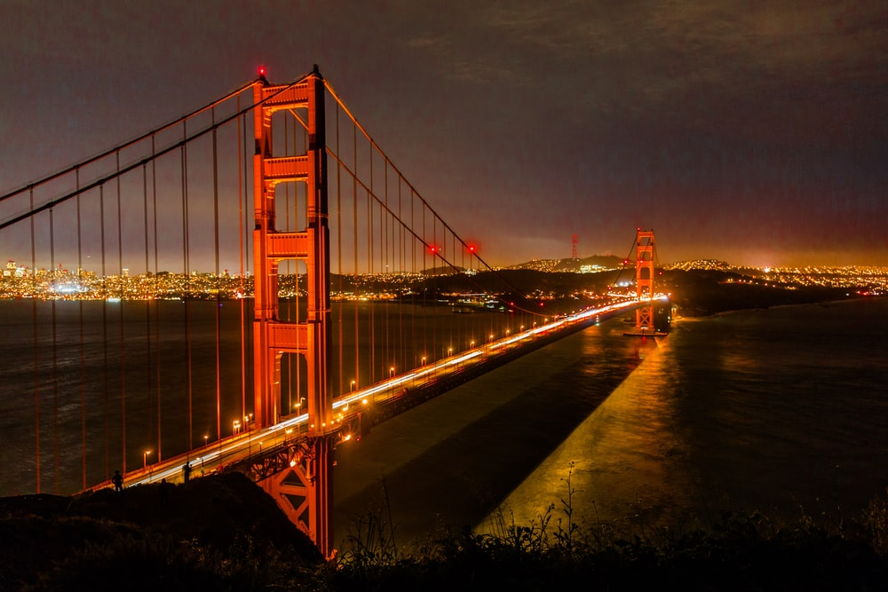 San Francisco bridge during nighttime