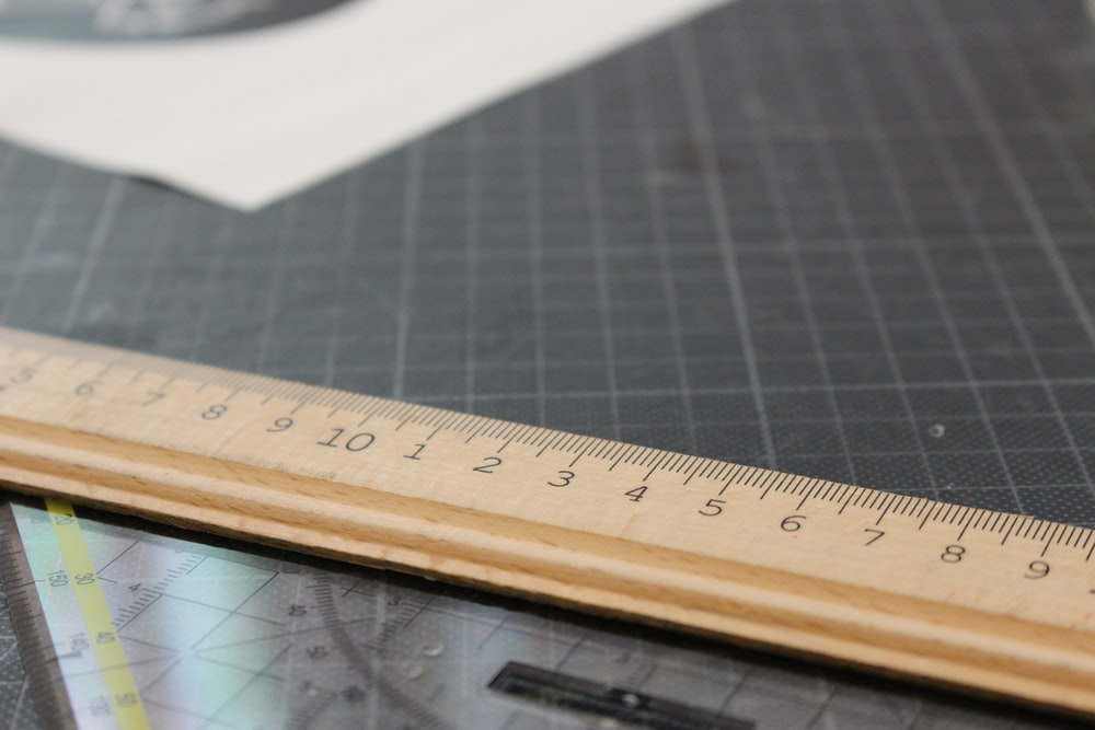 brown wooden ruler