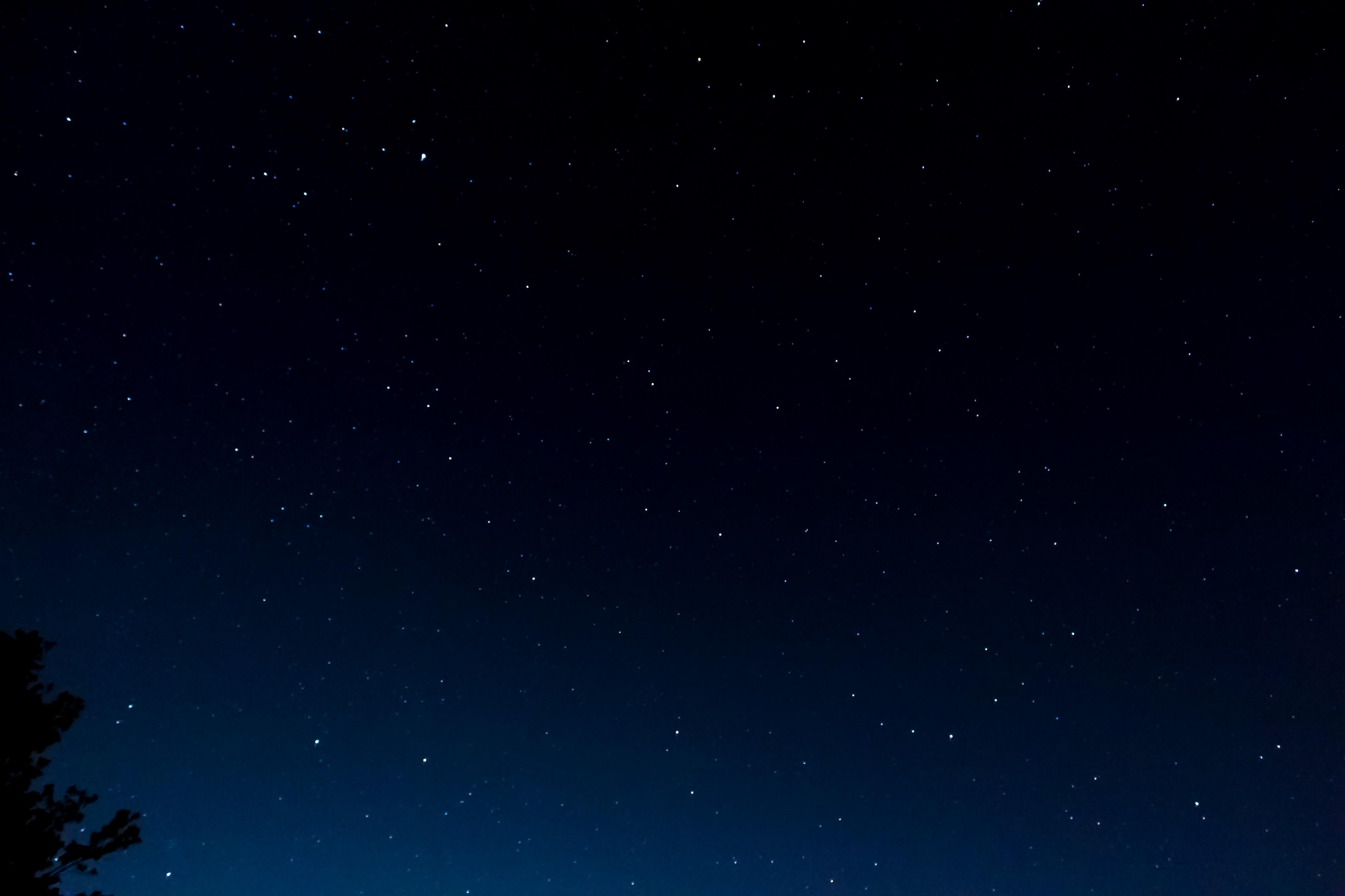 view of night stars