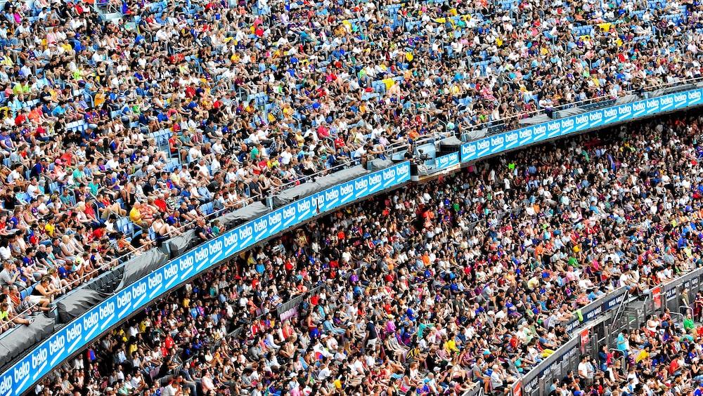 3-layer stadium with crowd