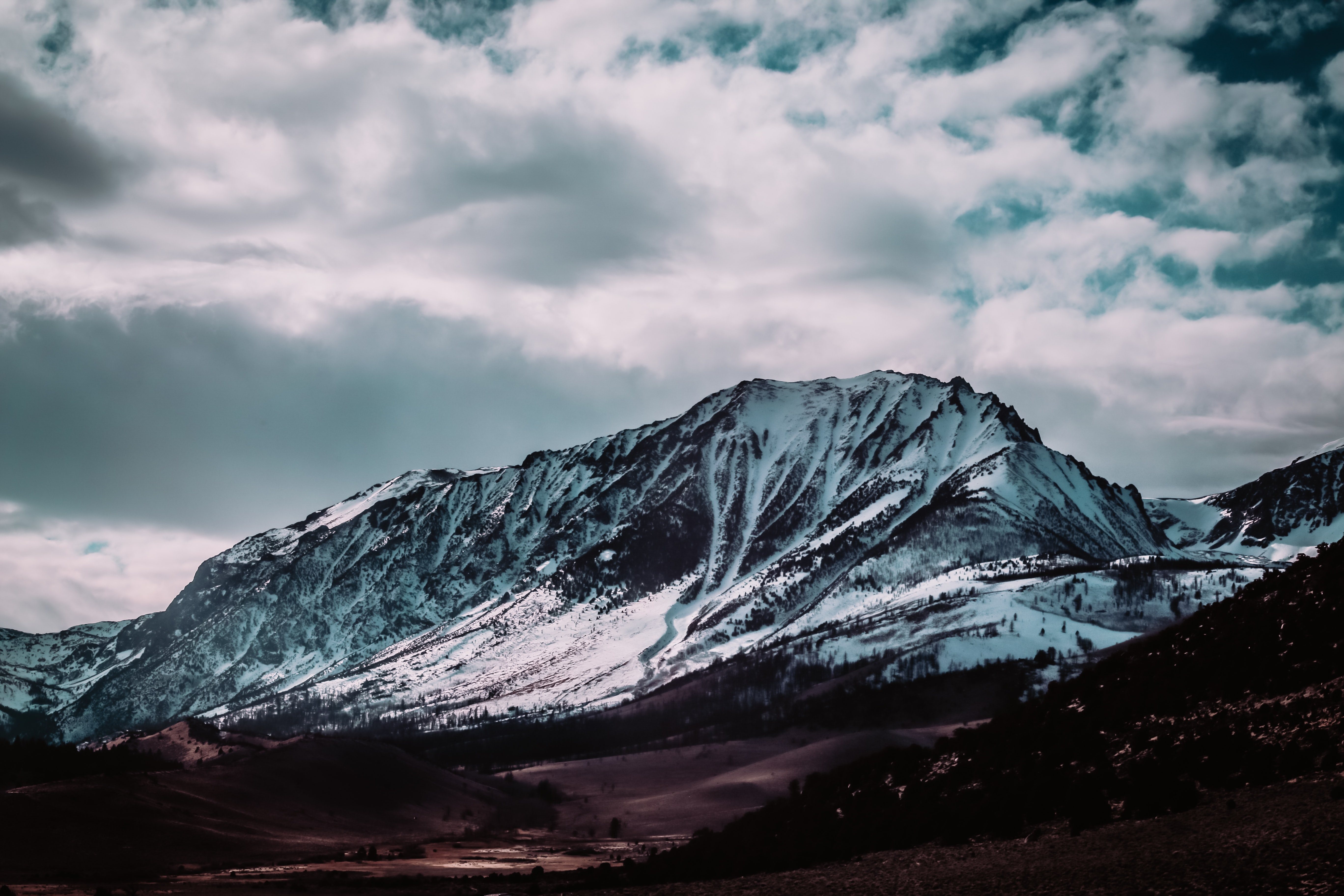 landscape photography of snow-covered mountains