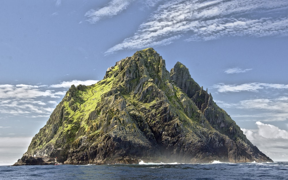 landscape photo of mountain island