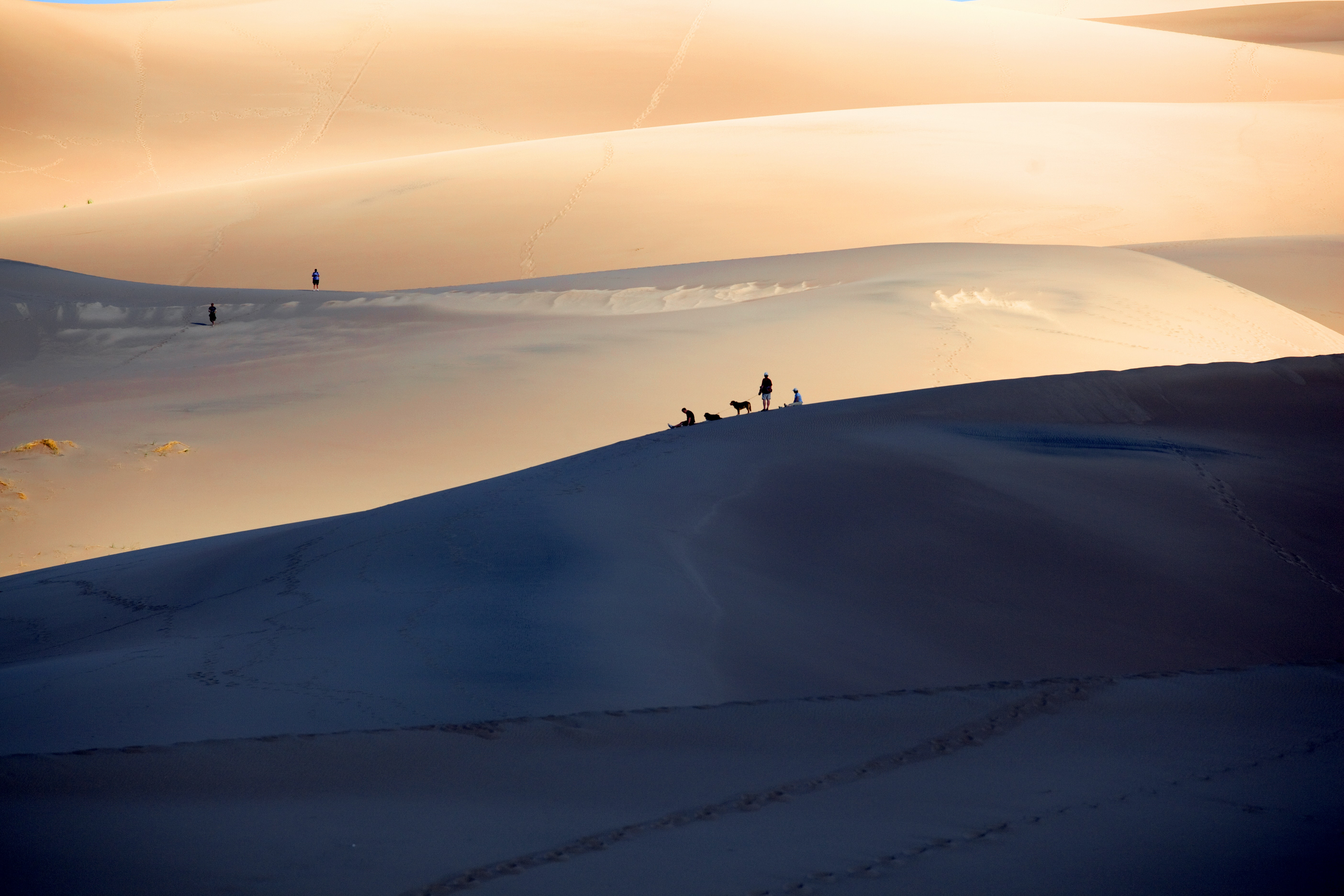Hiking through the desert of Great Sand Dunes National Park and Preserve