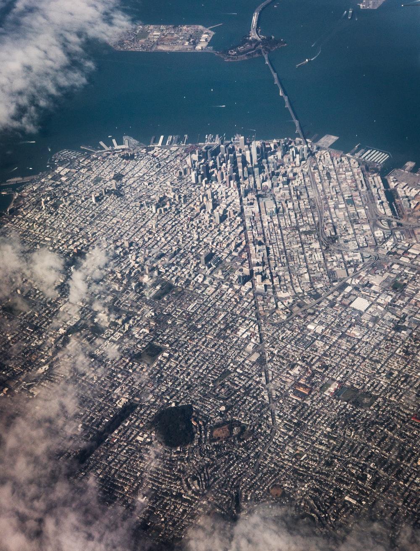 bird's-eye view photo of city