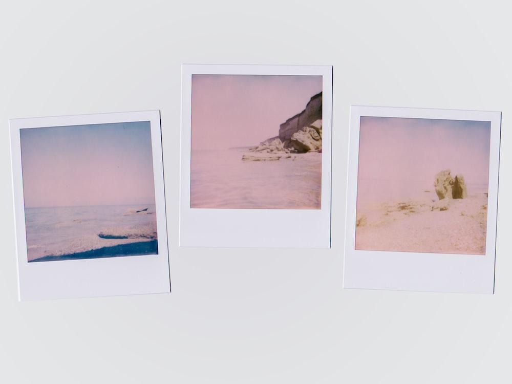 three beach illustrations