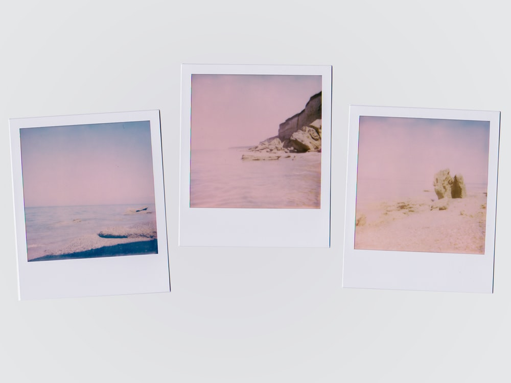 three beach illustrations