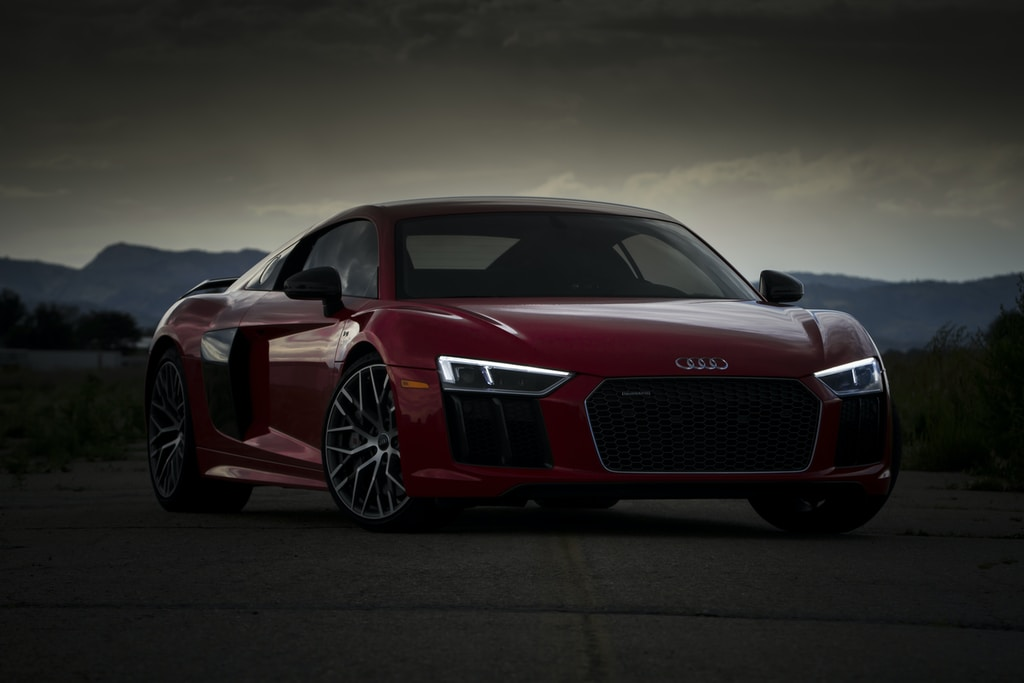 red Audi coupe