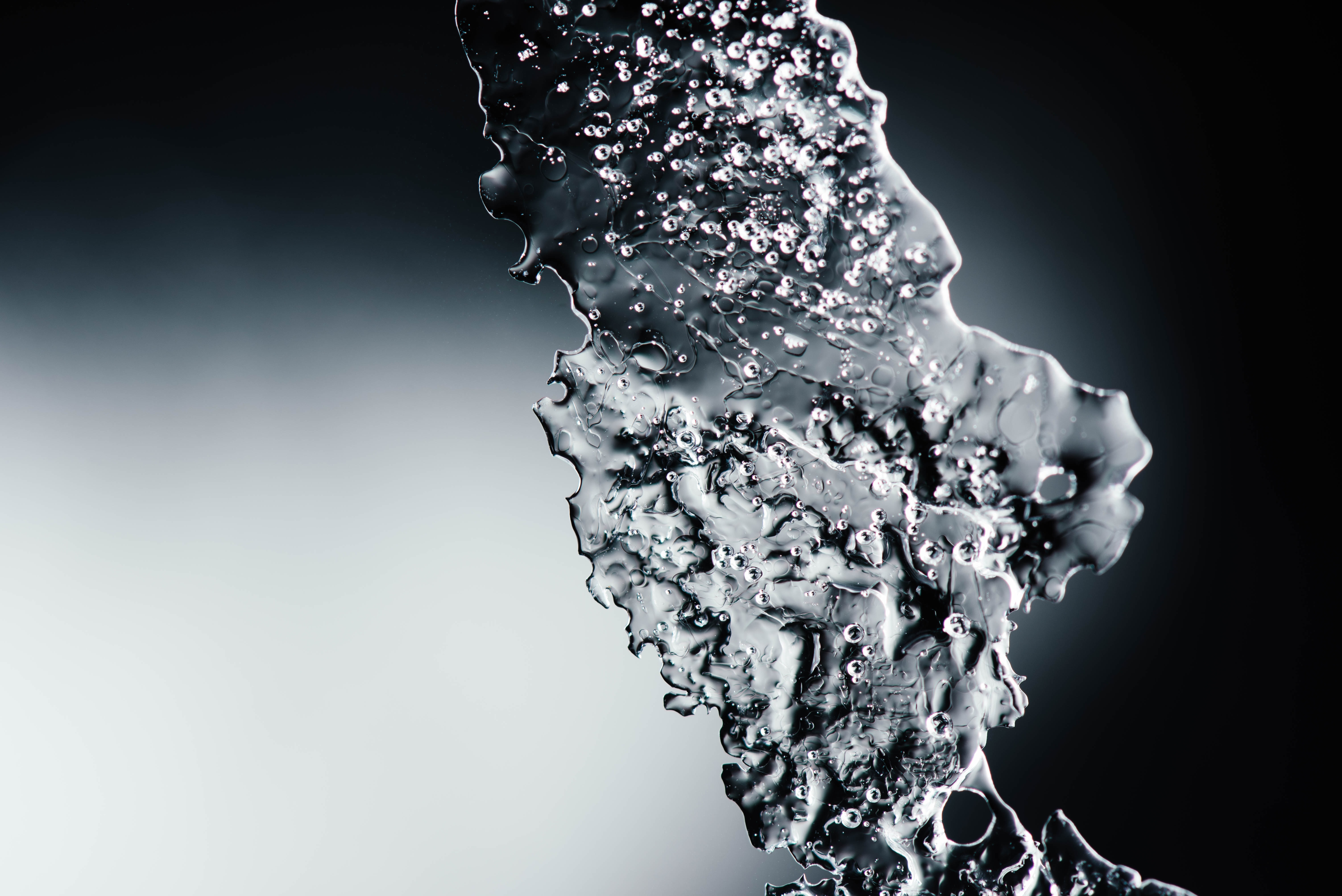 time lapsed photography of water drop