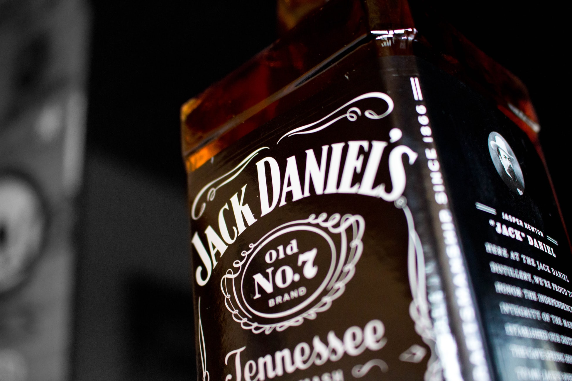 A bottle of Jack Daniel's Tennessee Whiskey.