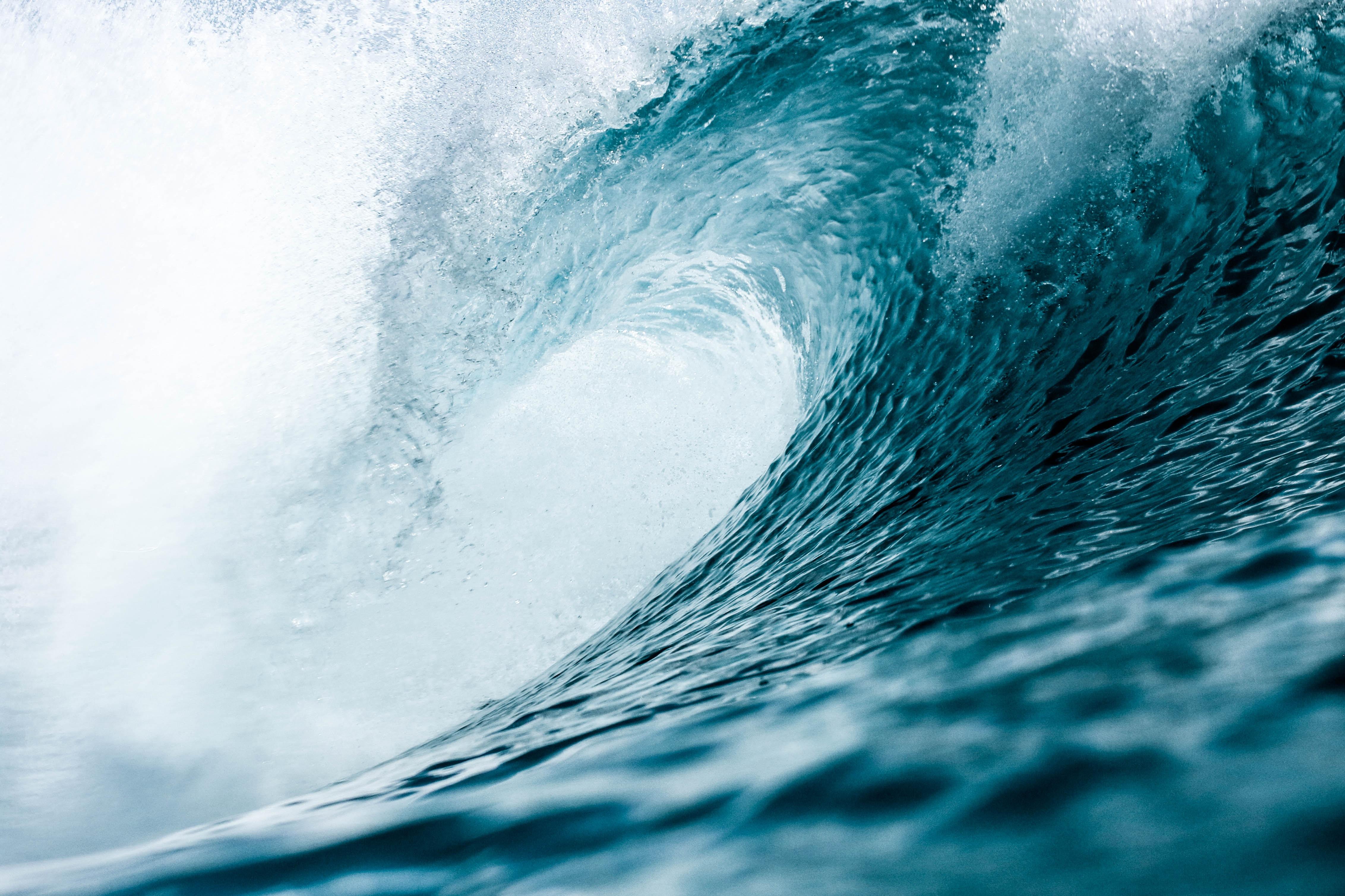 selective focus photo of ocean waves