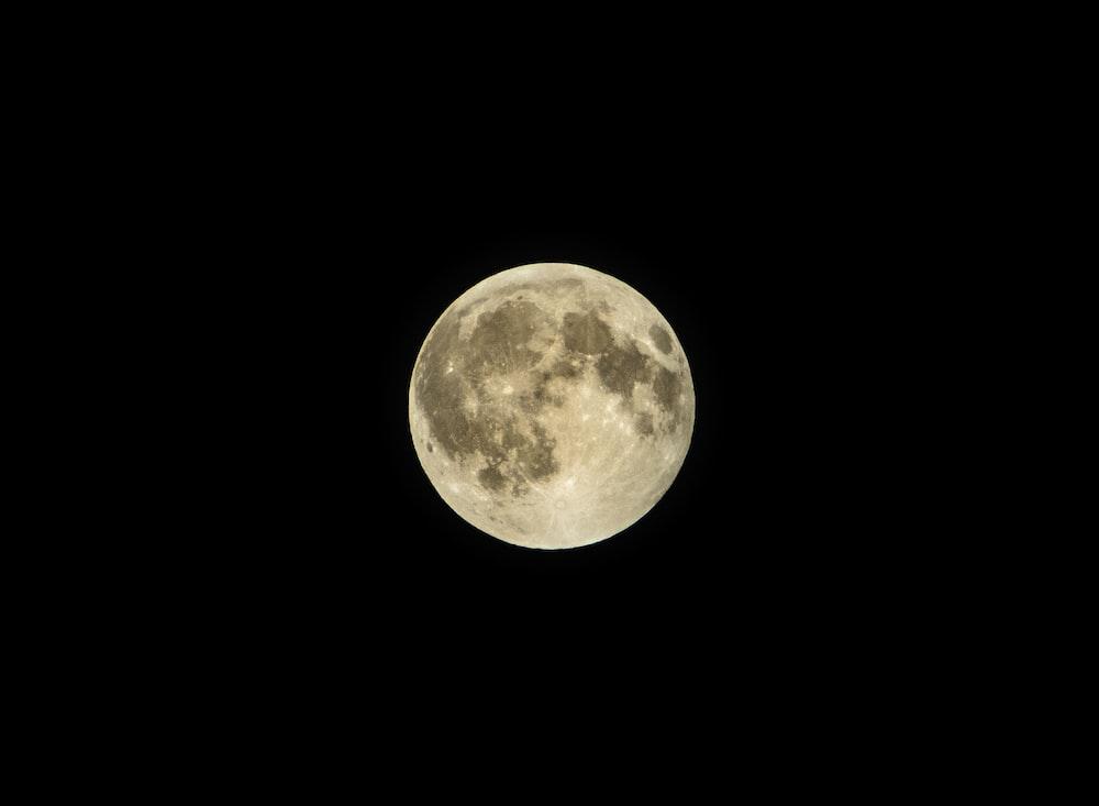 full moon digital wallpaper