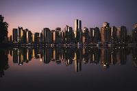 city skyline near water