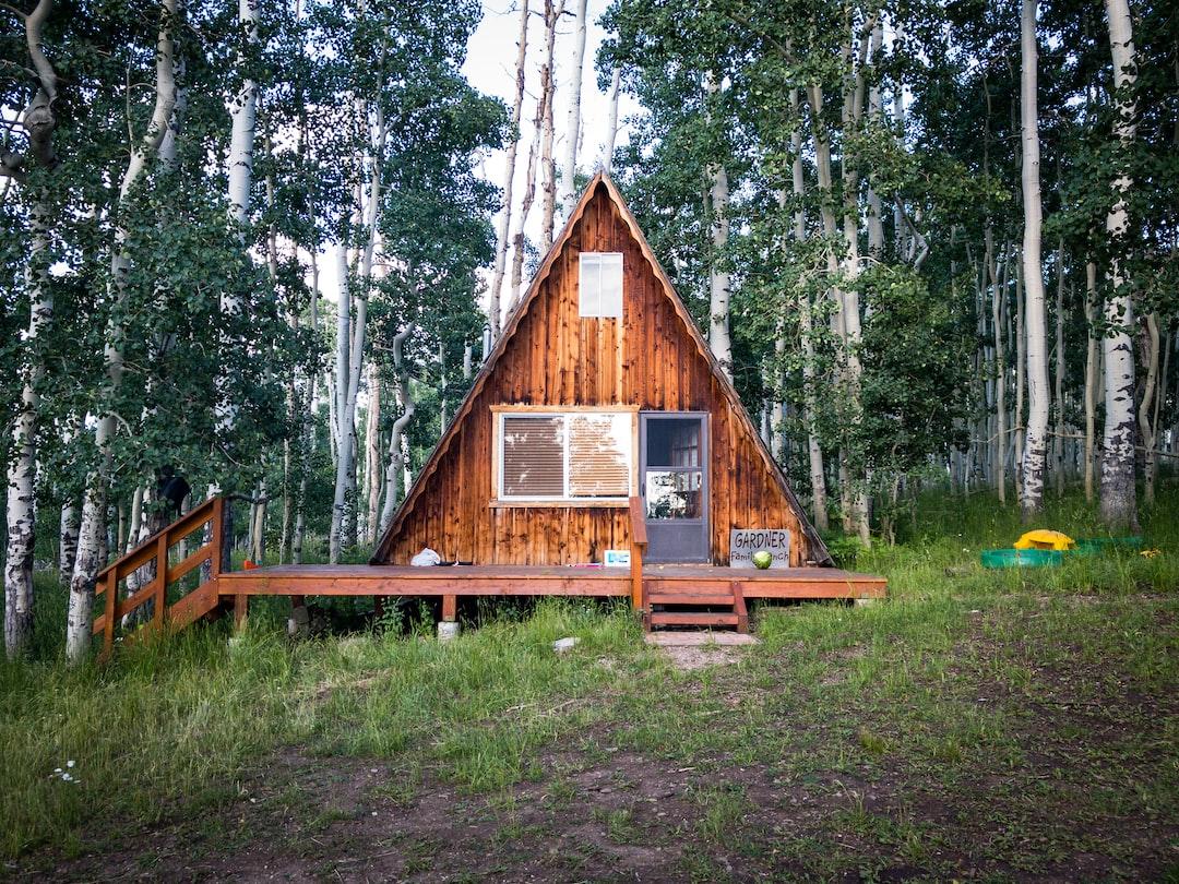 An A-Frame cabin