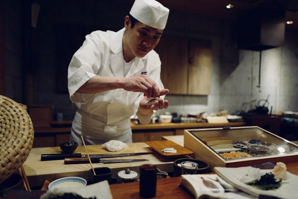 man in chef suit