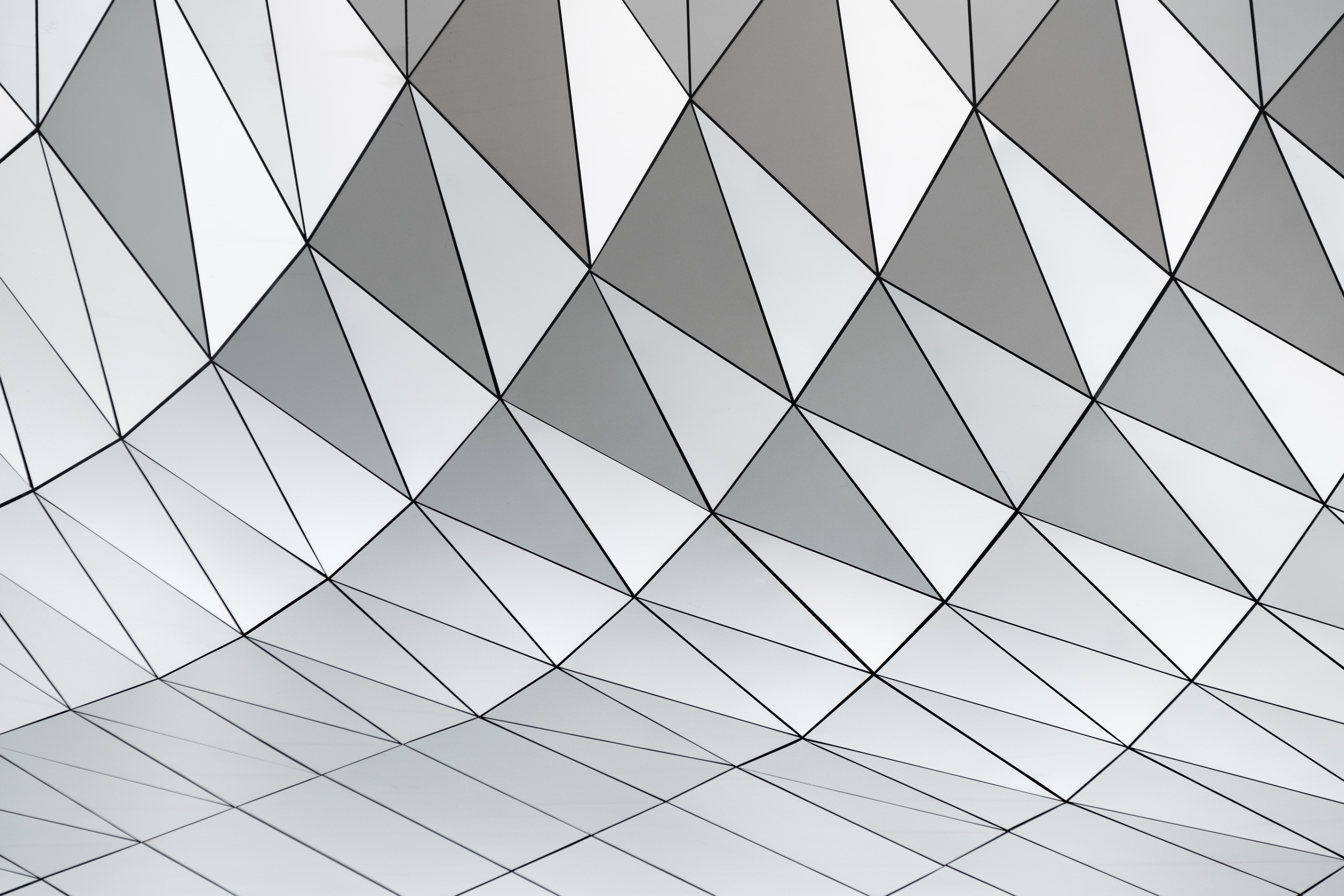 white and gray triangle pattern