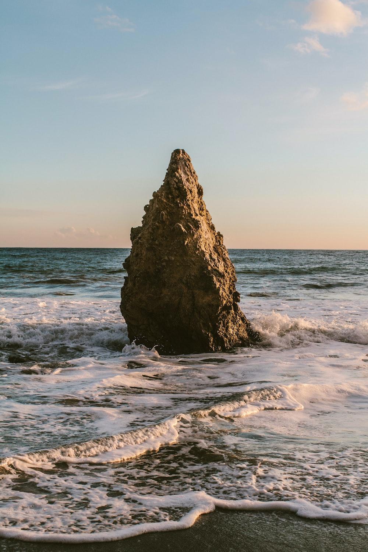 rock on seashore