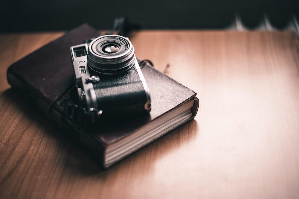 camera on book