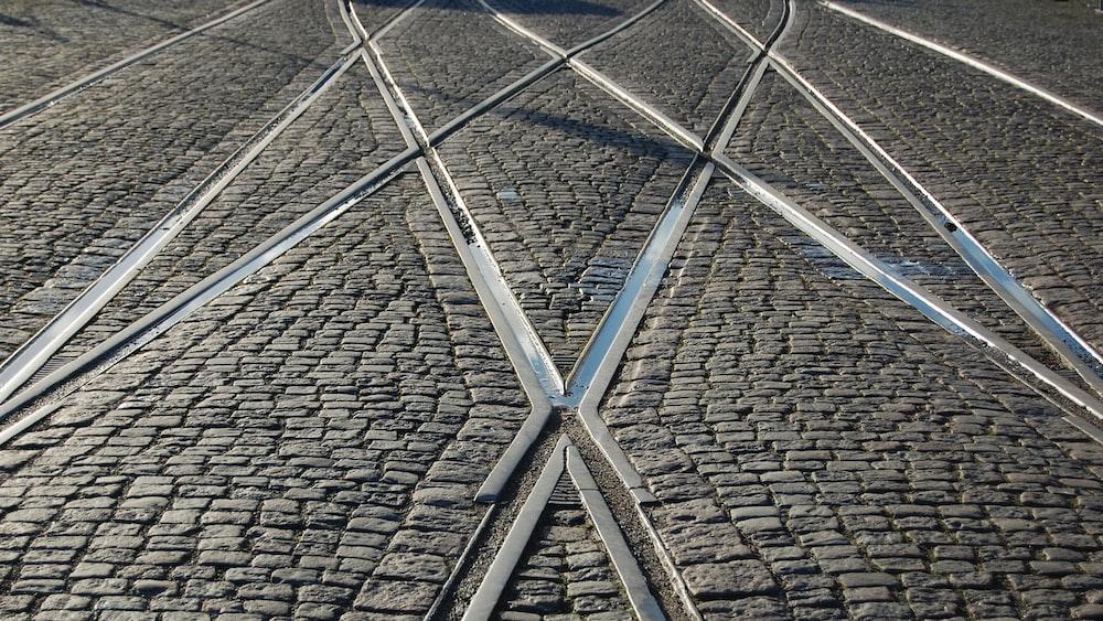 gray train rails