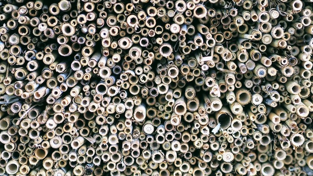 brown tube pipe lot