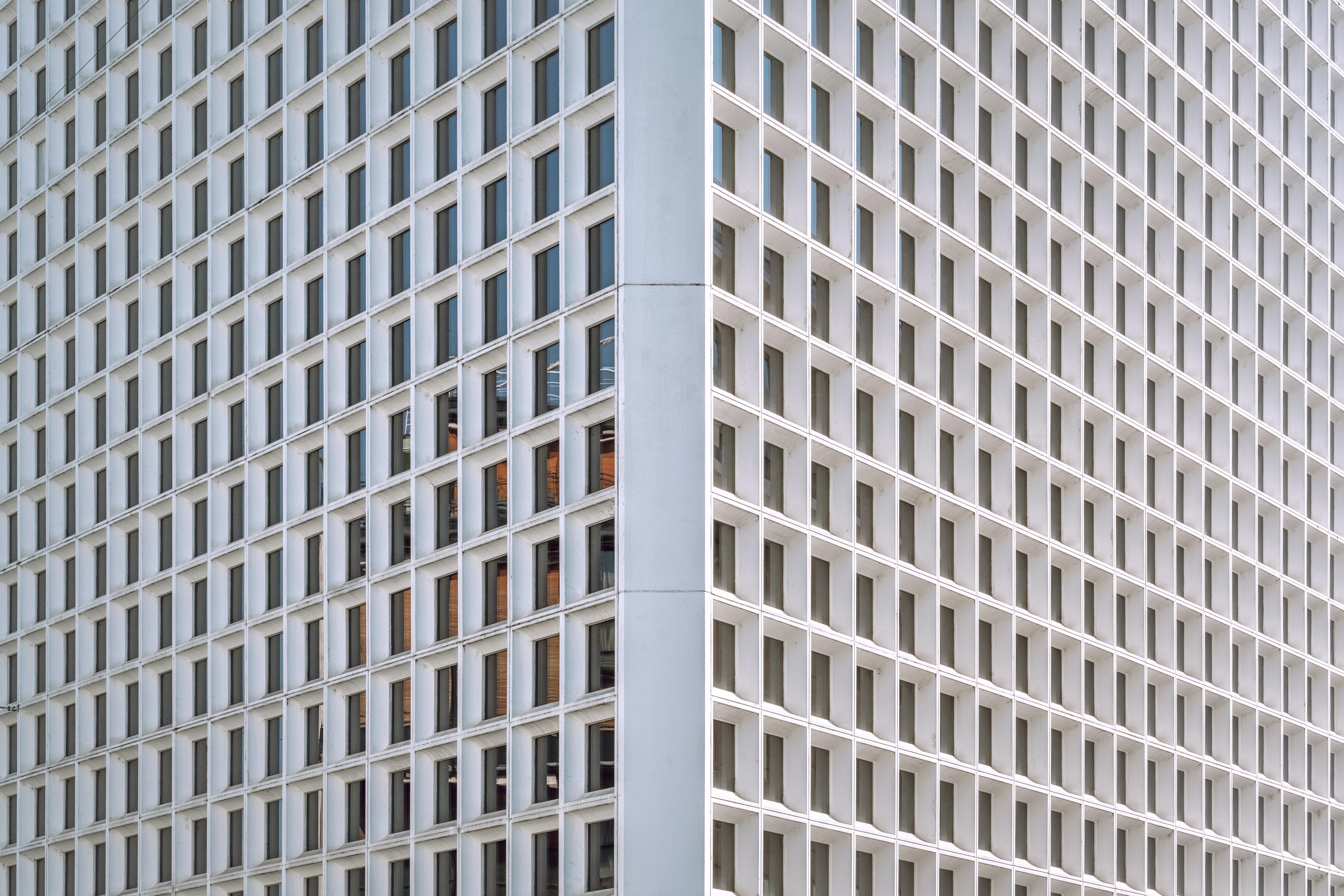 The corner of a white office building in Geneva