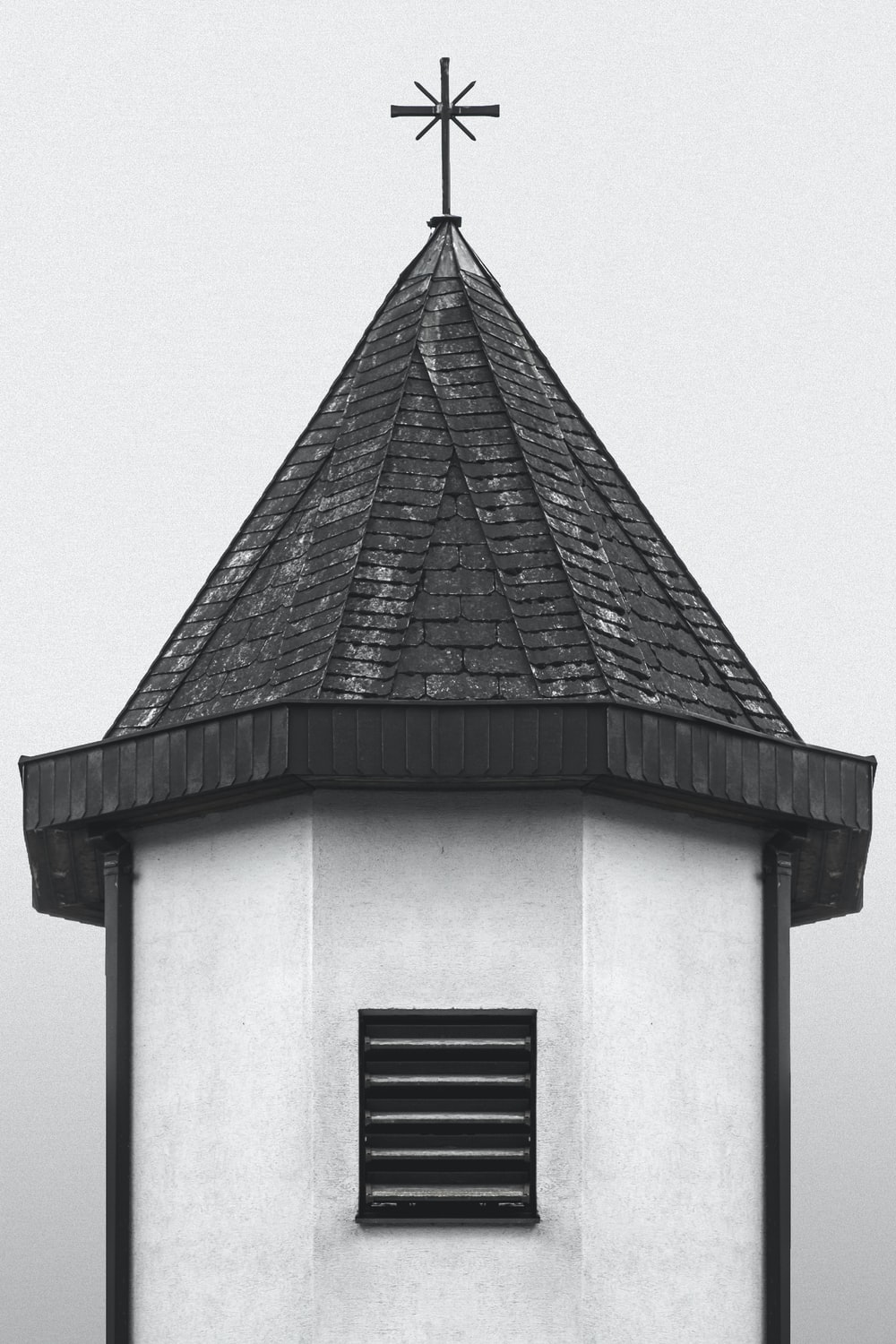 white and black cathedral close up photo